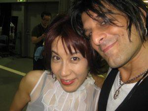 Yoko Kanno and Steve Conte (photo: Steve Conte)