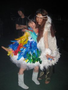 Maaya and Mai's outfits during the medley (photo: Steve Conte)