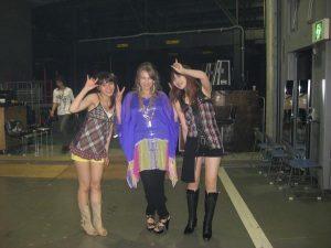Megumi Nakajima. Origa and May'n during the rehearsals (photo: Steve Conte)